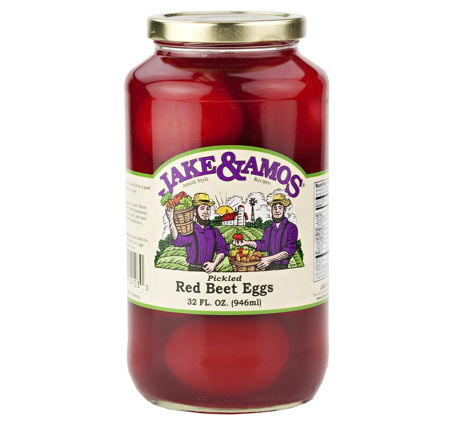Jake & Amos Pickled Red Beet Eggs 32 Oz. (2 Jars) by Jake & Amos®