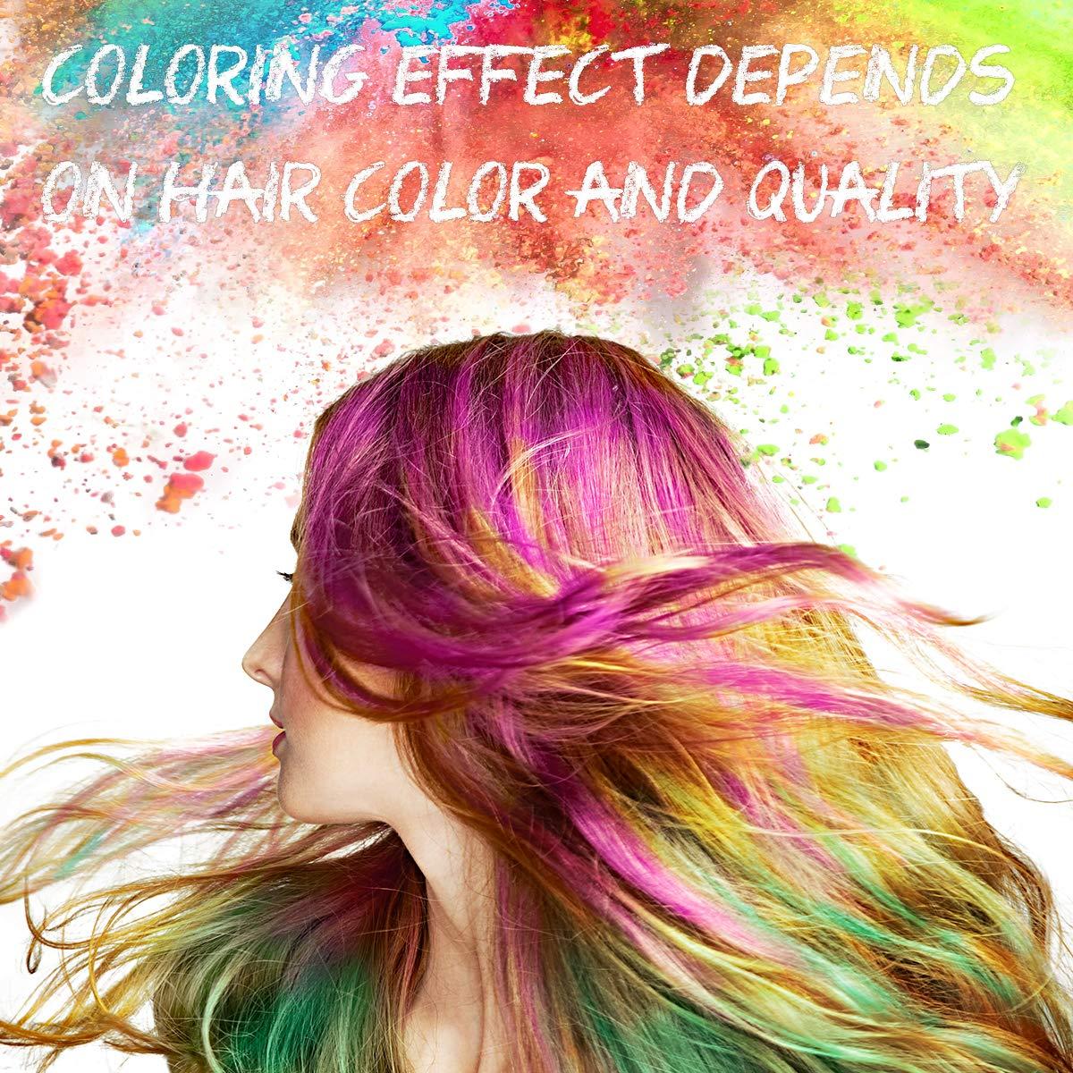 Colore Capelli Temporaneo, Pennarelli Colorati a Gesso per Capelli Set di 10 Colori di Gesso dei Capelli Temporanea Perfetto per Partito Feste Cosplay DIY, Mostra Costumi