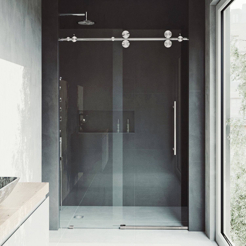 Vigo Elan 64 To 68 In Frameless Sliding Shower Door With 375 In