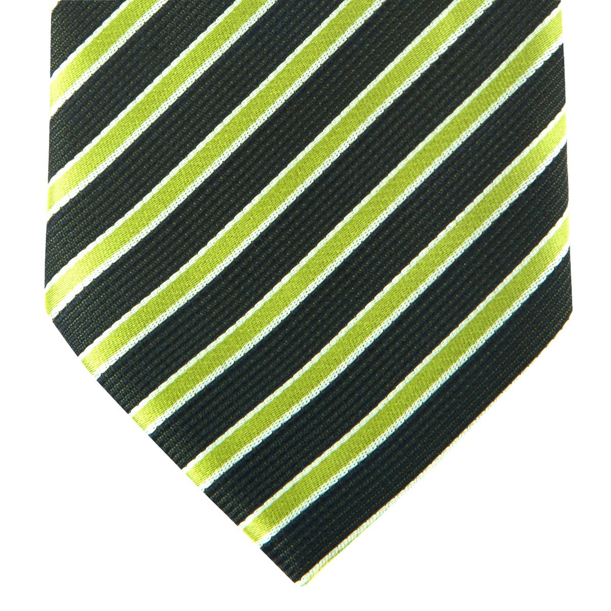 Two-Colour Striped Woven Mens Tie Necktie w//Pocket Square /& Cufflinks Gift Set