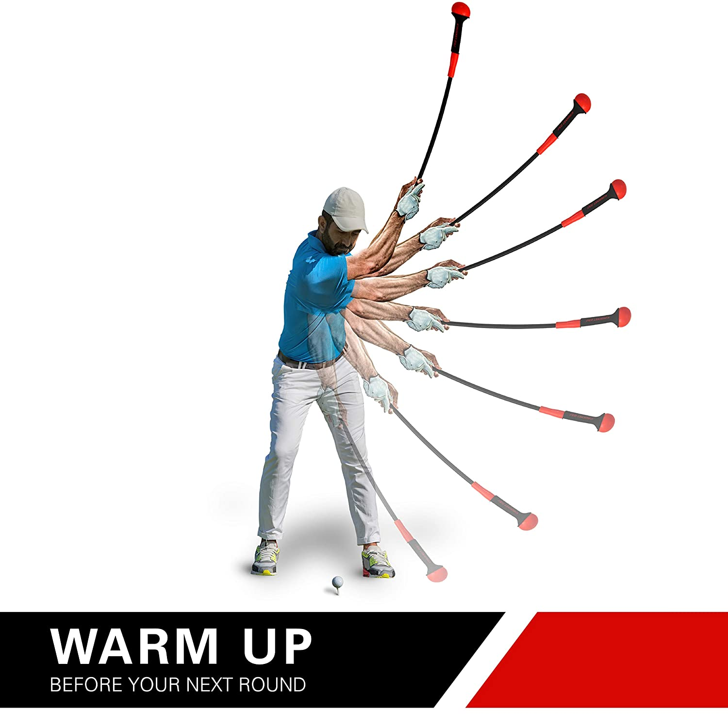 Rukket Golf Swing Trainer Equipment Training Aids for Tempo Speed Practice Flex Tool Whip Club Weighted Warm Up Stick Wrist Aid Impact Power Weight