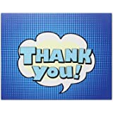 """Thank You Cards - Blue - Blank on the Inside - Perfect for Birthdays - Includes Cards and Envelopes - 5.5"""" x 4.25"""" (24 Pack)"""