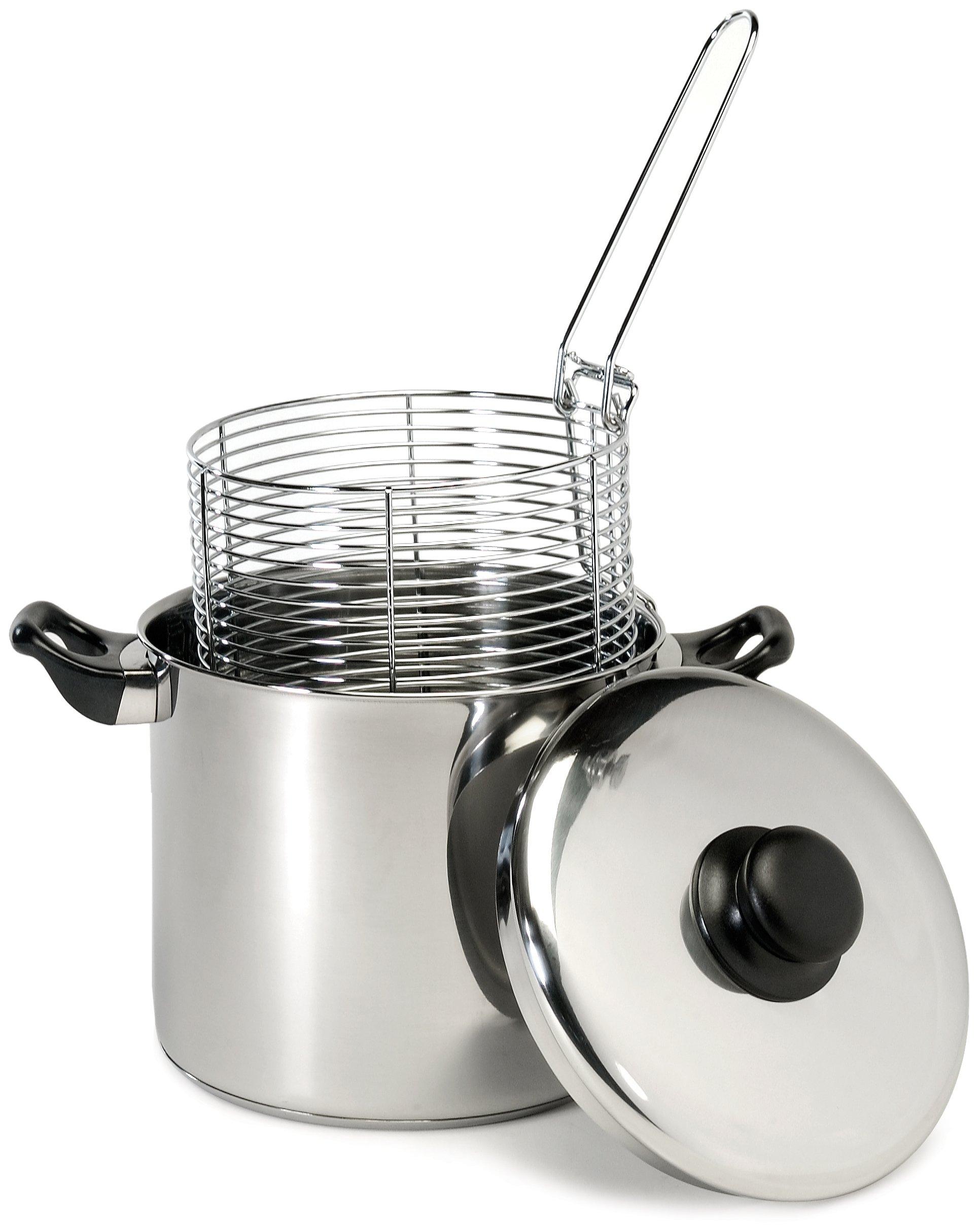 Excelsteel 6 Quart Stainless Steel Stove Top Deep Fryer by ExcelSteel