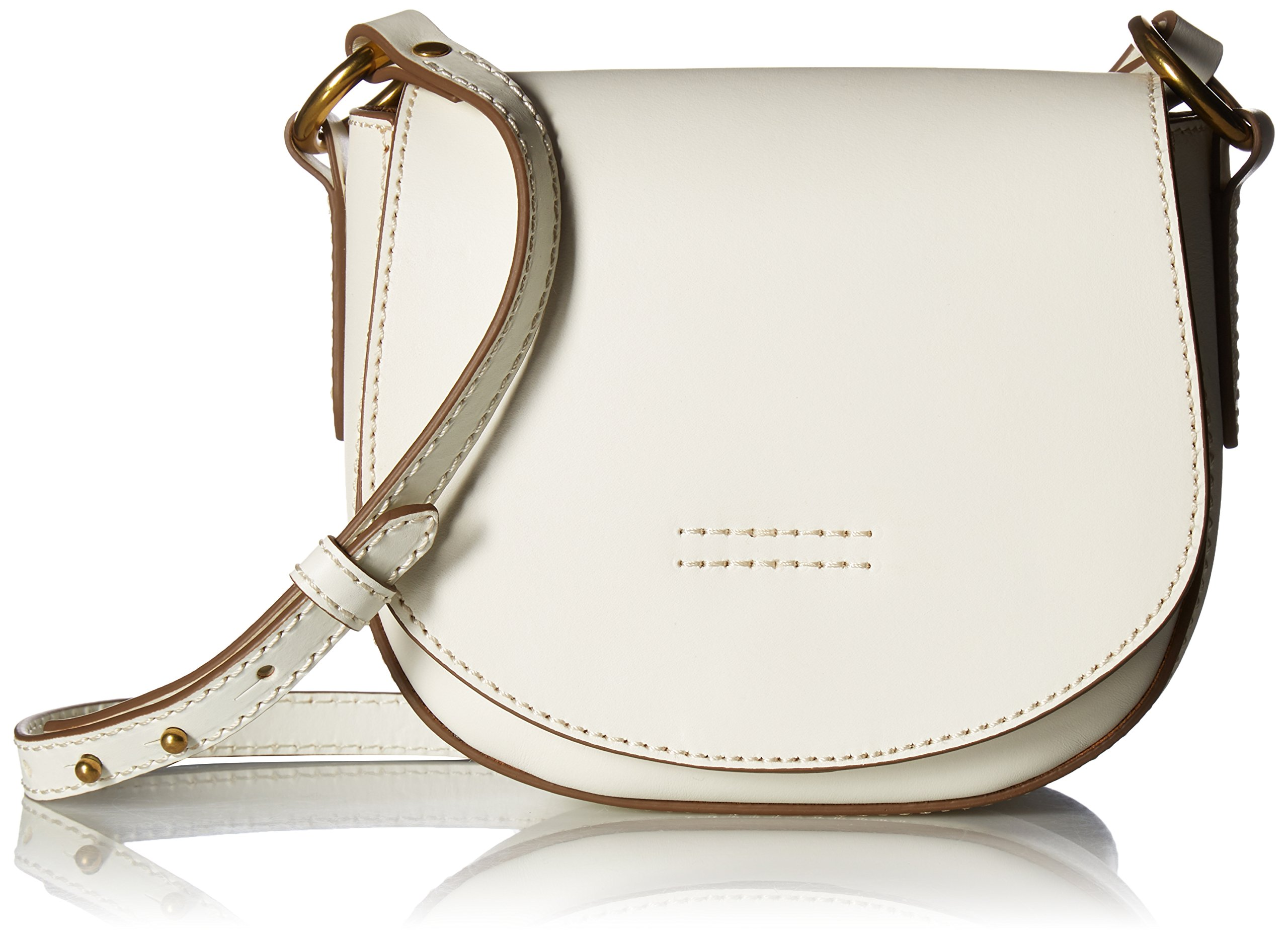 FRYE Harness Small Saddle, Off White by FRYE