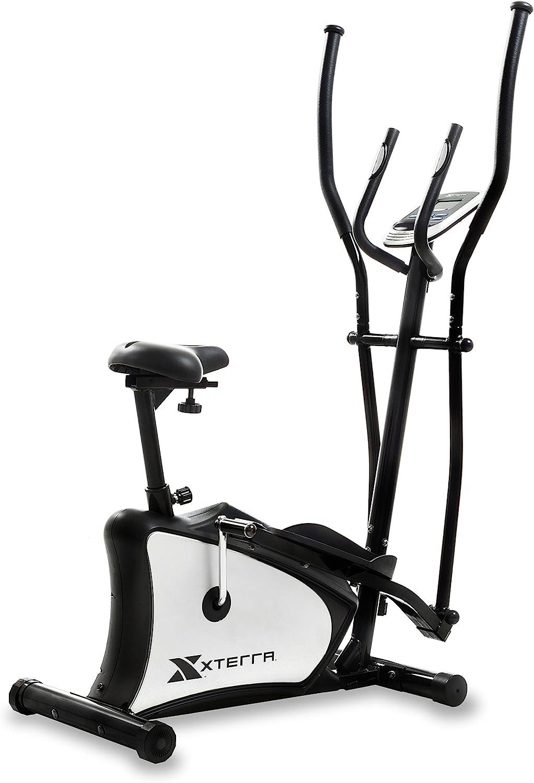 XTERRA Fitness EU150 Hybrid Elliptical/Upright Bike, Black
