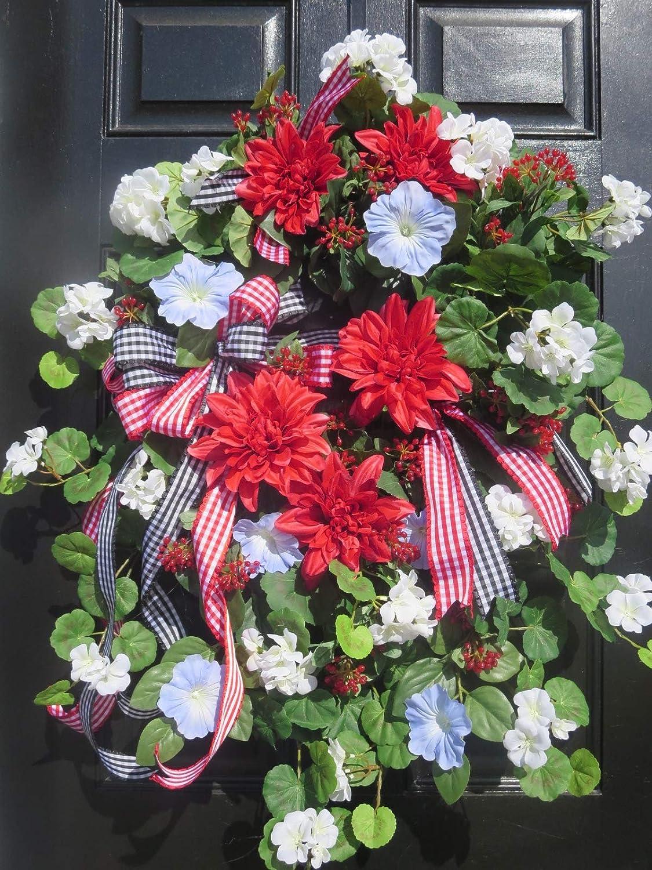 Amazon Com Spring Or Summer Door Wreath Mothers Day Wreath Spring
