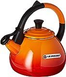 Le Creuset Enameled Steel 1.6 Quart Oolong Tea Kettle color  volcanic/Flame