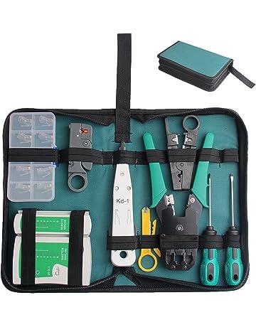 Hltd - Kit de herramientas profesionales de reparación de mantenimiento de la red de 18 piezas