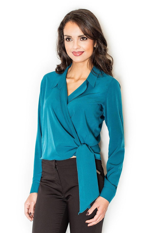 Figl Elegant envelope blouse