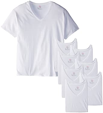 5ab23388ba6 Amazon.com  Hanes Men s 8-Pack Big V-Shirt