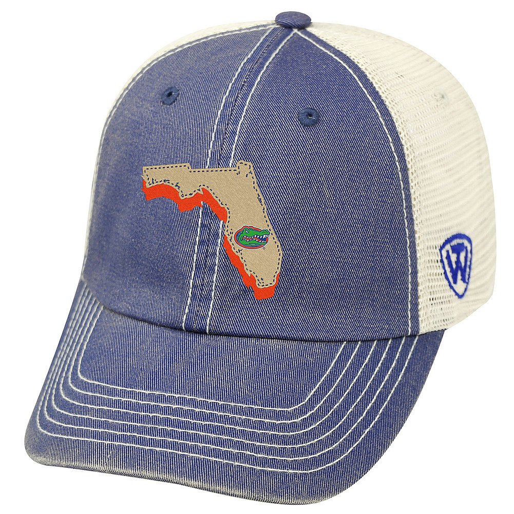 Top of the World Florida Gators Men's Mesh-Back Hat Icon, Royal, Adjustable