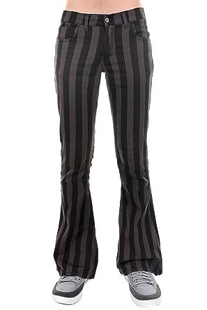 5d28f76c Run & Fly Mens 60's 70's Retro Vintage Black Grey Striped Stretch ...
