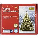 Idena LED Lichterkette 400er, ca. 47,90 m, für innen/außen, warm-weiß