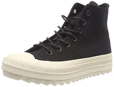 843fab14a99c Converse Women s CTAS Lift Ripple Hi Black Natural Fitness Shoes ...