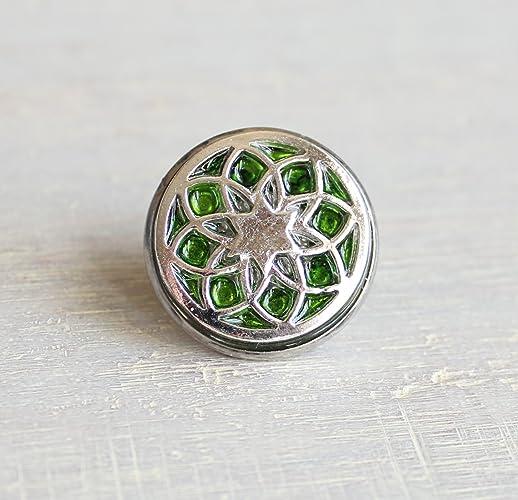 Amazon com: Green seed of life tie tack / lapel pin : Handmade