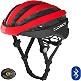 Coros SafeSound Road Smart Cycling Helmet with Ear Opening Sound System SOS Emergency Alert LED Tail Light | Bluetooth Connec