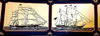 Tall Ship Wallpaper Border, Nautical, Sailing, Sea, Navy Decor Pattern #WB5030