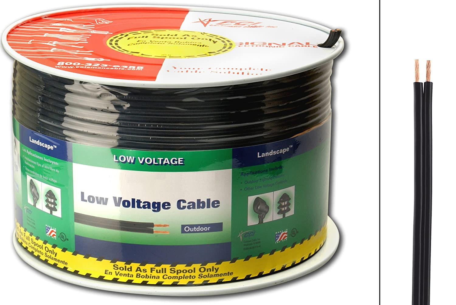 150 V Bare 250-Feet Copper Coleman Cable 552660408 Low Voltage Cable 250 Ft 16//2