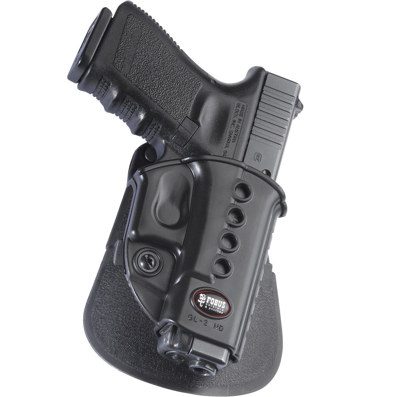 Fobus GL2E2 Evolution Holster for Glock 17, 19, 19x, 22, 23, 31, 32, 34, 35, Left Hand Paddle