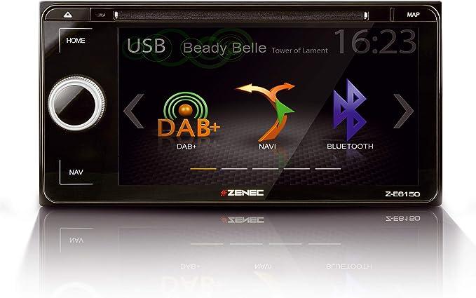Zenec Z E6150 Infotainer 2 Din Mediencenter Für Toyota Multimedia Mit 6 8 17 3 Cm Touchscreen Autoradio Mit Dab Cd Dvd Bluetooth Zum Festeinbau Navi Erweiterbar Navigation