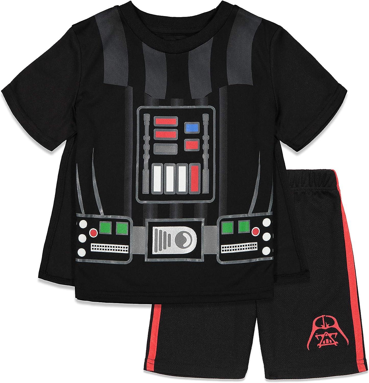 Disney Star Wars Darth Vader Costume Caped T-Shirt and Shorts Set