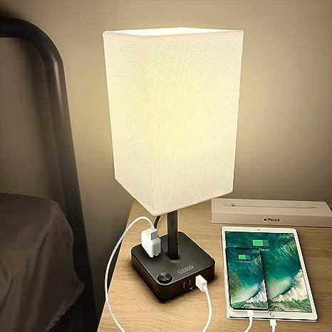 Amazon.com: COZOO - Lámpara de mesa y escritorio USB con 3 ...