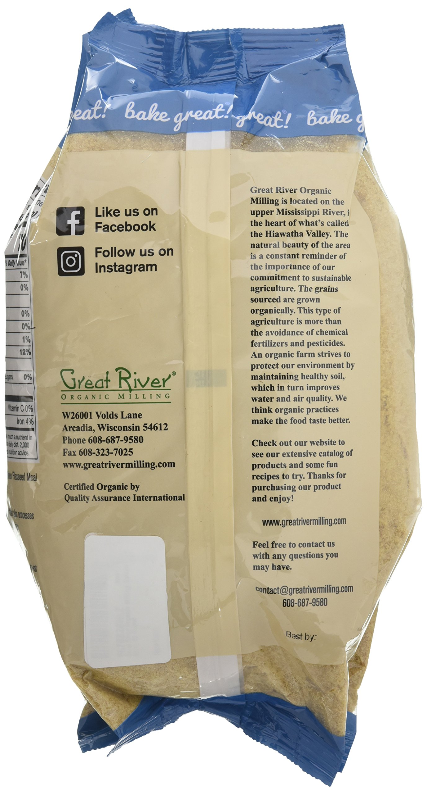 Great River Organic Milling Golden Flaxseed Meal, 32 Ounce by Great River Organic Milling (Image #4)