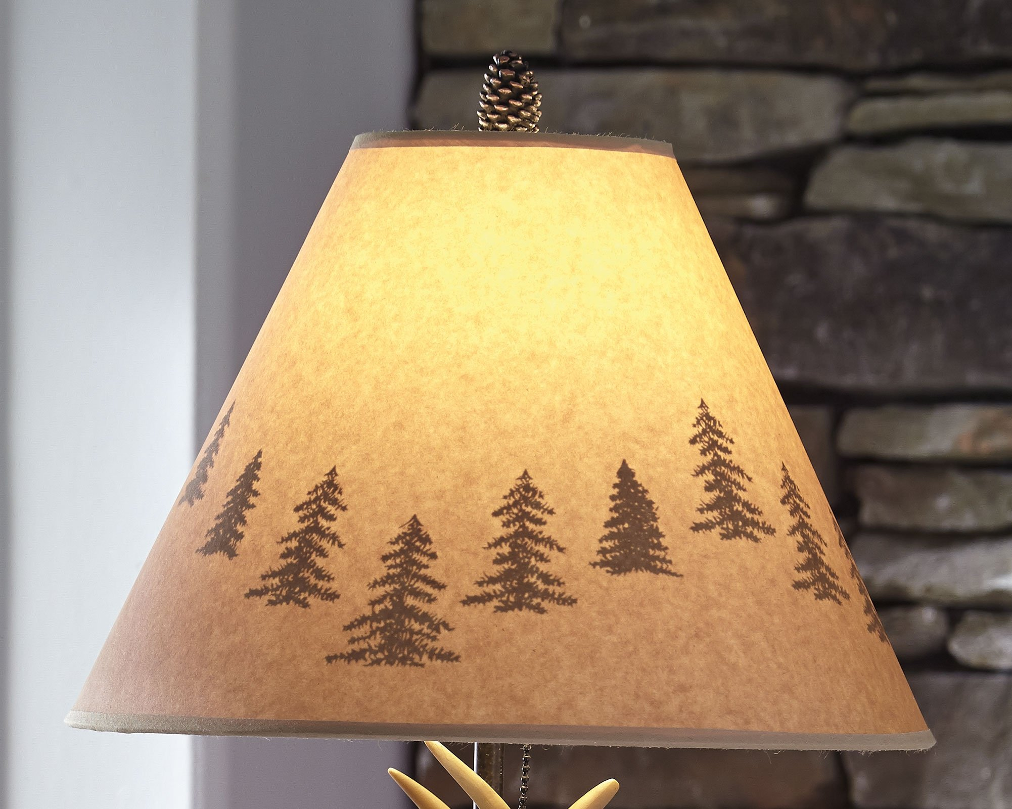 Ashley Furniture Signature Design - Derek Antler Table Lamps - Mountain Style Shades - Set of 2 - Natural Finish by Signature Design by Ashley (Image #4)