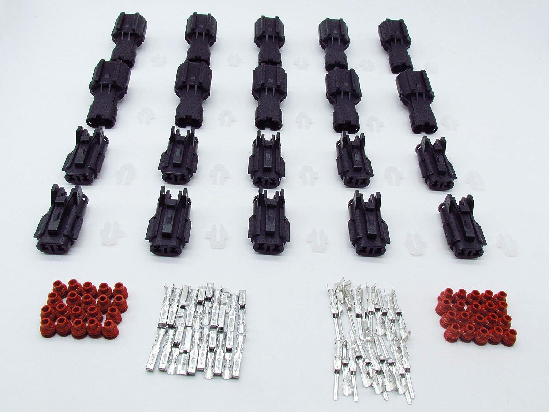 cnkf 10 Set Ket SWP 2 pin nero auto maschio e femmina impermeabile connettore elettrico mg640322/mg610320 kaifa elec