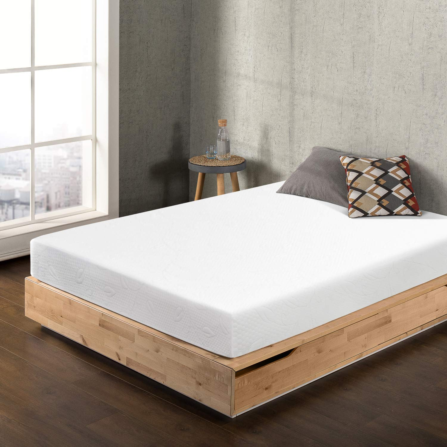 Best Price Mattress BPP-AFM-8SQ 8'' Air Flow Memory Foam, Short Queen, White Mattress