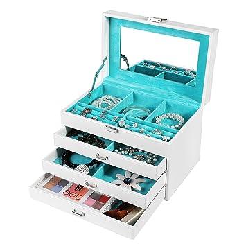 Amazoncom SONGMICS Jewelry Box Organizer Leather Jewelry Storage