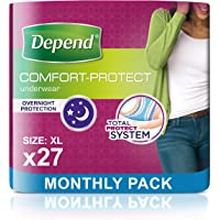 Depend - Braguitas de incontinencia para mujer, súper