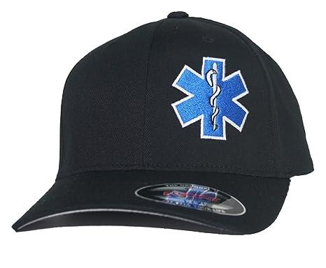 cf808cabf90 EMT Star of Life Hat Paramedic Cap Flexfit at Amazon Men s Clothing ...