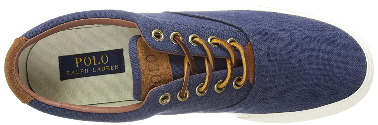 Amazon.com | Polo Ralph Lauren Men\u0027s Vaughn Linen Fashion Sneaker | Fashion  Sneakers