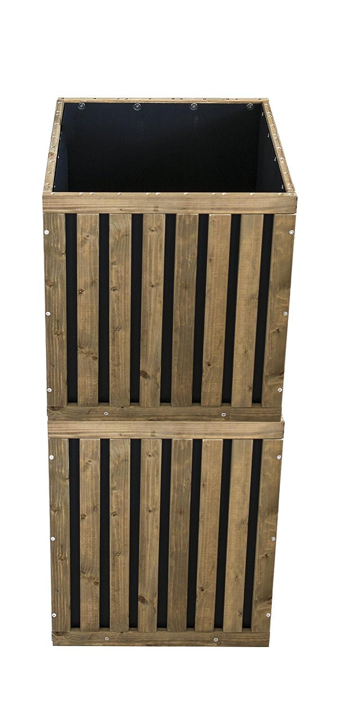 Pflanzbox / Blumenkasten / Hochbeet für Balkone und Terrassen (Cube)