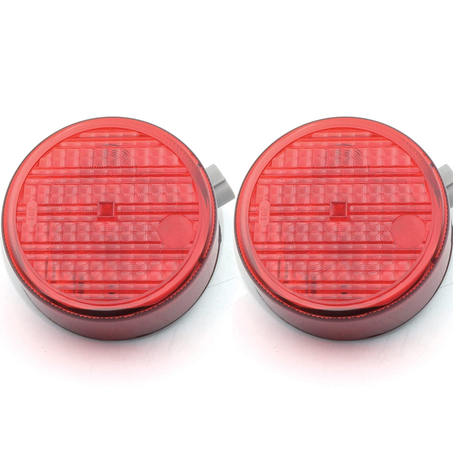 Pair LED Tail Light Rear Lamp Replacement For Kawasaki Teryx Teryx4 2012-2016 red