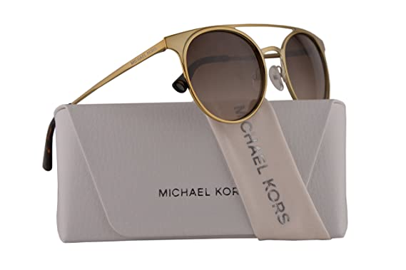 9371c776f998 Image Unavailable. Image not available for. Color: Michael Kors MK1030  Grayton Sunglasses Shiny Pale Gold w/Dark Brown ...