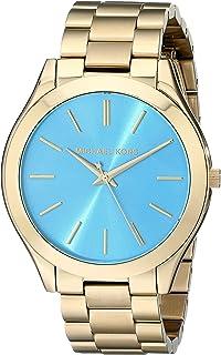 Michael Kors MK3265 Womens Slim Runway Gold-Tone Stainless Steel Bracelet Watch