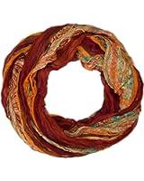 styleBREAKER Loop Schlauchschal mit Streifen und Paisley Muster 01018004
