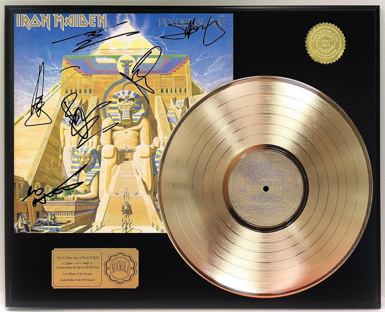 Iron Maiden Power Slave Gold Lp Signature Display C3