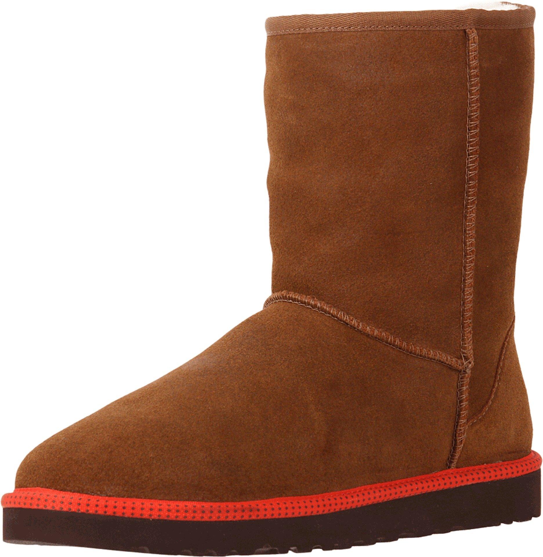 UGG Men's Classic Short Leather Chestnut Leather/Sheepskin Boot 18 D - Medium
