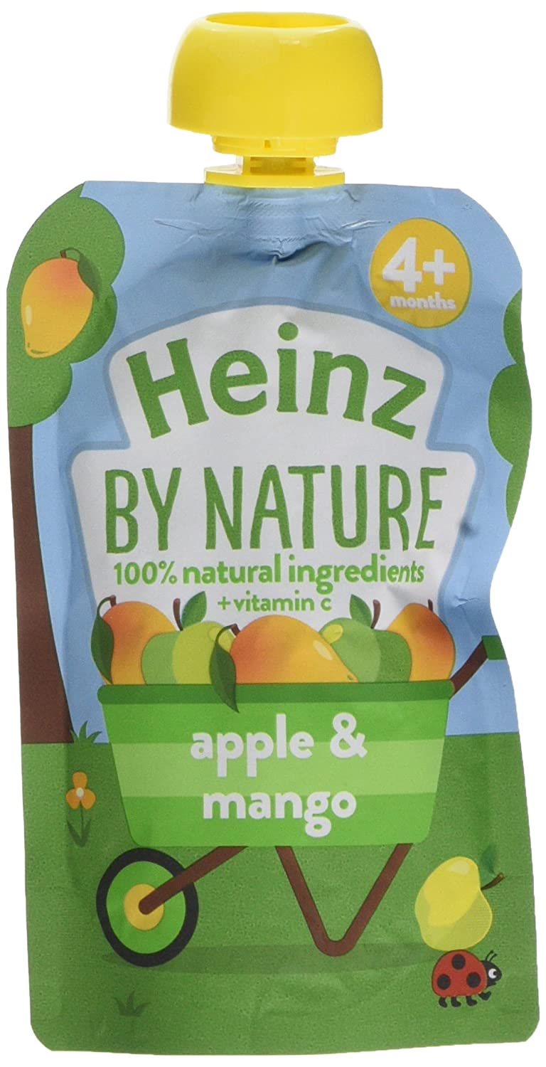 Heinz Apple and Mango Fruit Pouch, 100 g (Pack of 6) The Kraft Heinz Company 76011086