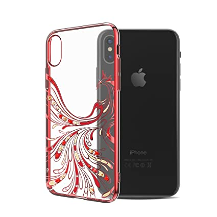 pretty nice 4470e 22c9c iPhone X Case, SunbaYouth iPhone 10 case with Swarovski: Amazon.in ...
