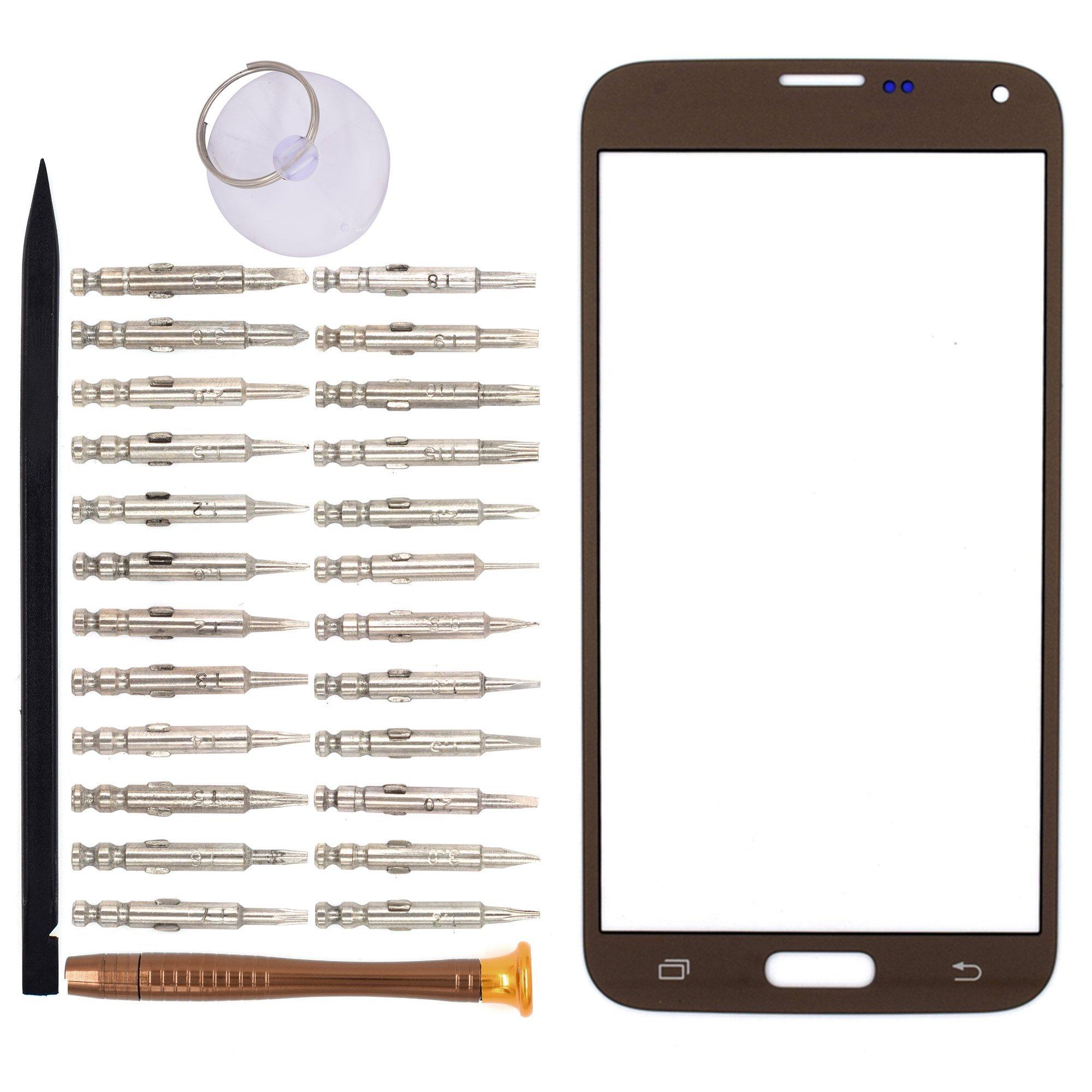 Vidrio Frente Para Samsung Galaxy S5 Neo Dorado [goodyitou]