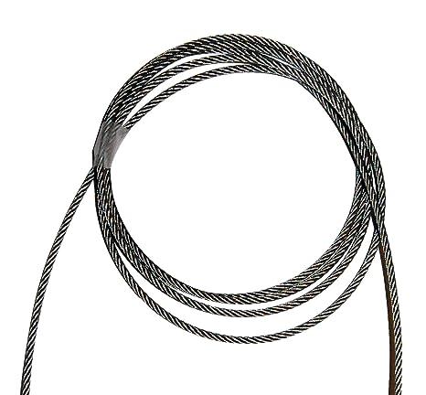 Cable acero inoxidable de 4 mm 25 Mt Para Corsia piscina ...