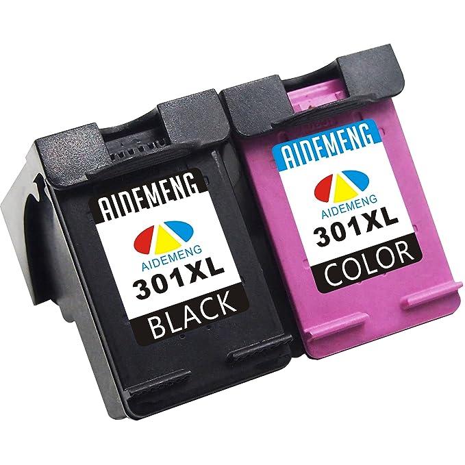 6 opinioni per AideMeng Cartuccia rigenerata di inchiostro per HP 62XL (2 Nero)