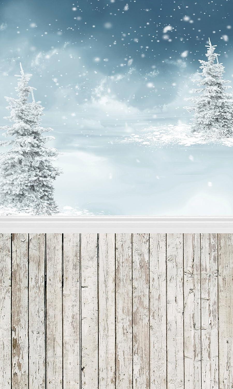 Fivan 5 X 2 4 M Weihnachten Schnee Baum Print Festival Kamera