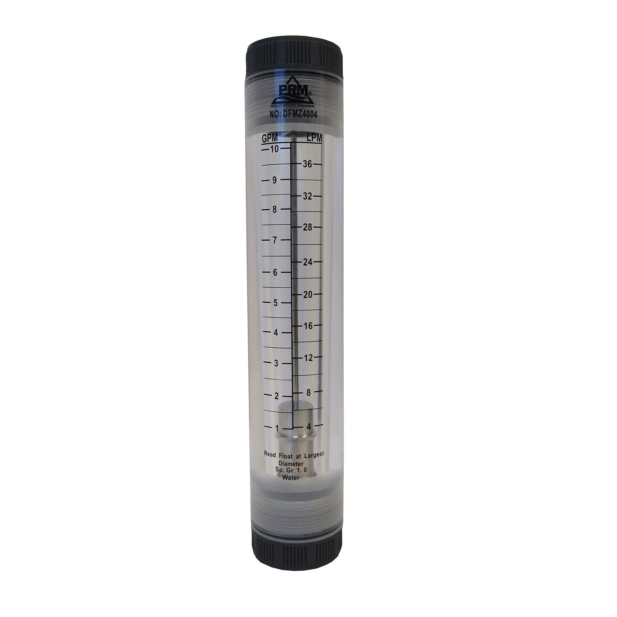 PRM 1-10 GPM ROTAMETER WATER FLOW METER 1 INCH FNPT CONNECTOR