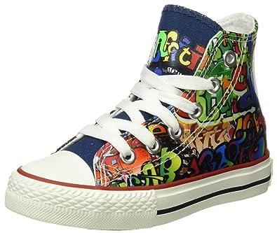 Beppi Canvas Boot 2153480, Zapatillas Altas de Lona Unisex Niños, Multicolor, 31 EU