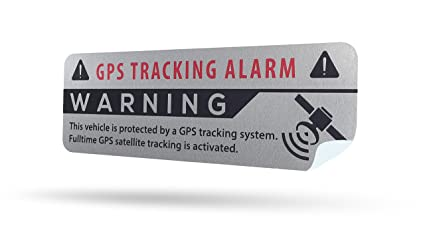 LM Intertrade GmbH Pegatinas GPS con protección antirrobo GPS de calidad premium con etiqueta de advertencia 75 mm x 25 mm Plata